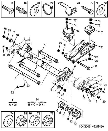 reparer remplacement roulements train de suspension arriere apprivoise ta xsara. Black Bedroom Furniture Sets. Home Design Ideas